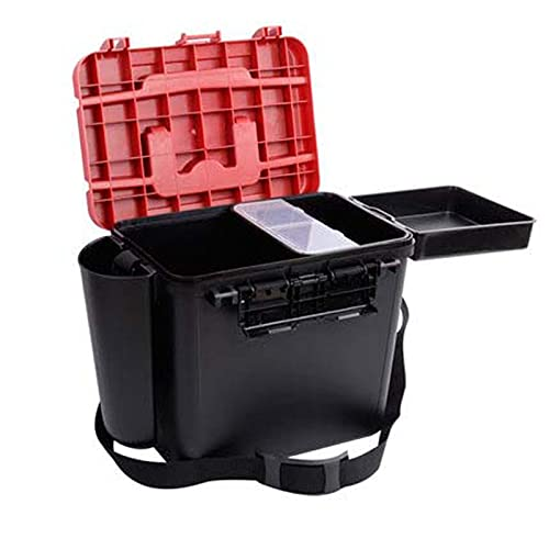 JYJD El Cubo de Pescado Thicken Luya, Maleta de Coche de Material PP, Puede Sentarse en El Cubo de Pesca, Caja de Almacenamiento