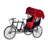 MOEGEN Puzzle Modelo 3D Rompecabezas, Bicicleta Puzzles Metal Ensamble Decoración Hogar 3D Monta Adult Model - FS-0060 Negro + Rojo