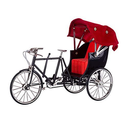 YOU339 DIY Fahrradmodellbausatz, Metallmontage Simulation Retro Rikscha Fahrrad Dekoration Modell Dekor Ornament Geschenk (Retro Fahrrad)
