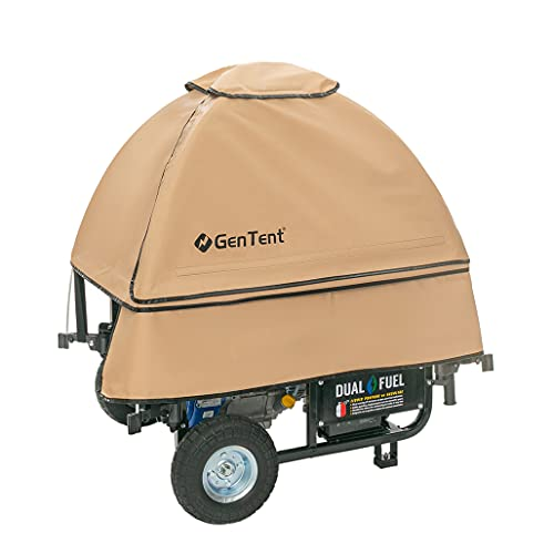 GenTent 10k Generator Tent Running Cover - Universal Kit (Standard, Tan) - Compatible with...