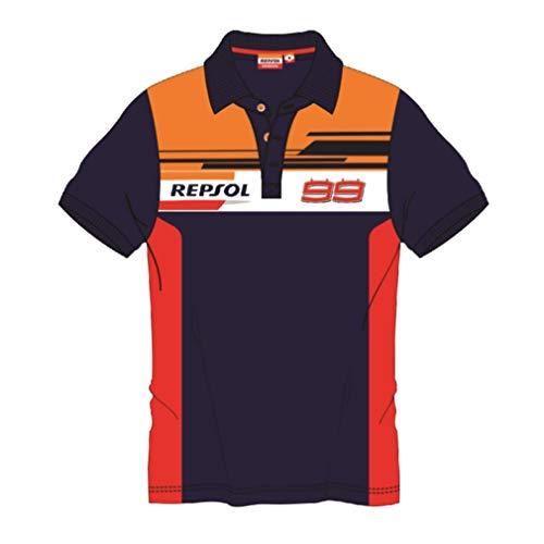 REPSOL HONDA RACING 2019 Jorge Lorenzo #99 - Polo para Hombre, Producto Oficial, Azul, Mens (M) 102cm/40 Inch Chest