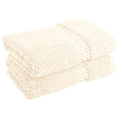 Blue Nile Mills 2-Piece Bath Towel Set, Premium Long-Staple Cotton, 900 GSM, Cream