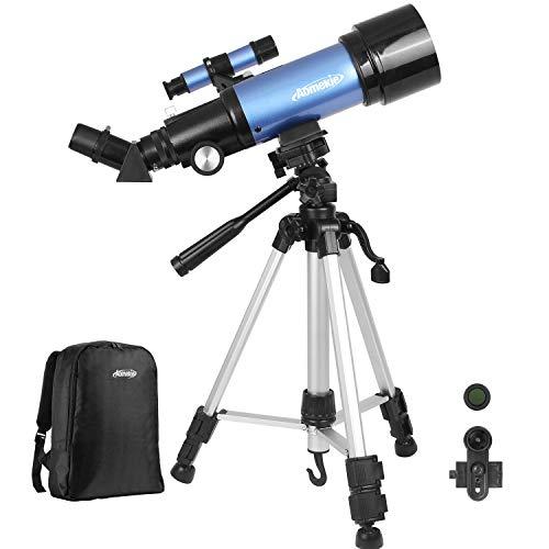 Aomekie - Telescopio astronómico para niños principiantes con trípode y buscador
