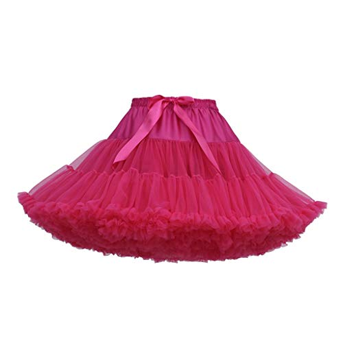Falda de Tutu Mujer,SHOBDW Rendimiento De Color Baile Fiesta De Disfraces Regalo De CumpleañOs Sólido En Capas De La Colmena Mullidas Faldas De Ballet Mini Faldas Pettiskirt