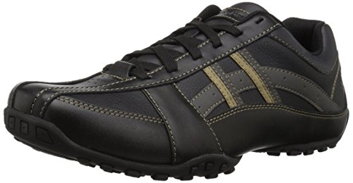 Skechers Men's Citywalk Malton Oxford Sneaker,Black,9.5 M US