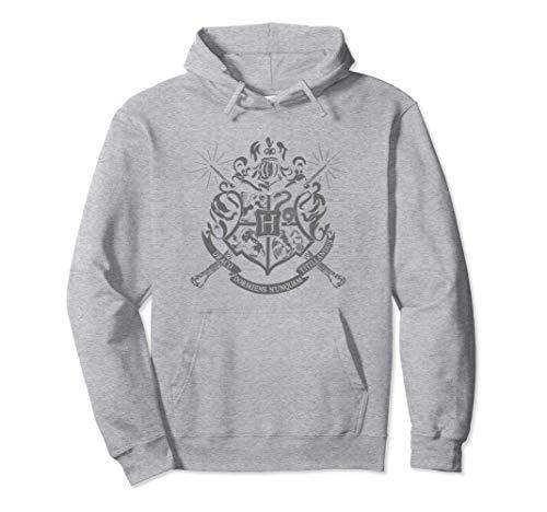 Harry Potter Hogwarts Badge Wands Felpa con Cappuccio