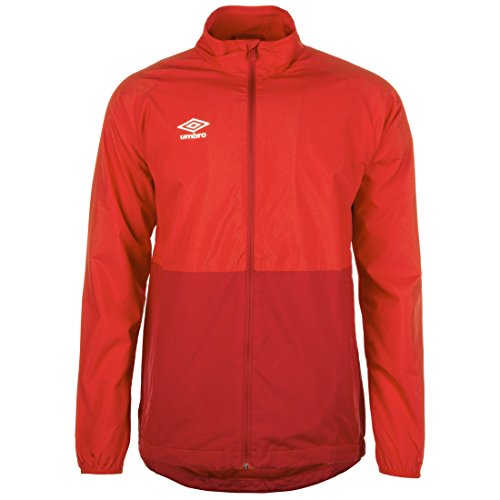 UMBRO Herren Training Shower Regenjacke, rot/dunkelrot, M