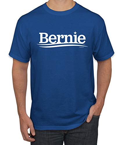Bernie Sanders for President 2020 White Campaign Logo | Mens Political Graphic T-Shirt, Royal, Small