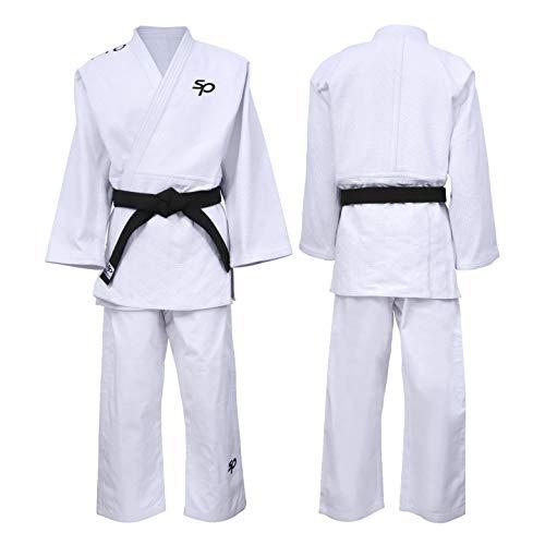 Starpro Traje De Judo Uniforme Entrenamiento - Bueno para Karate Gi Profesional IJF MMA Artes Marciales Lucha de Taekwondo Kimono Blanco 550 | 100% Algodón para Hombres y Mujeres | Viene Sin Cinturón