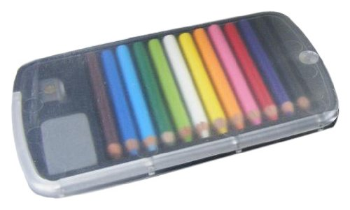 BC USA Japanese Mini Colored Pencils in Case with Eraser and Sharpener