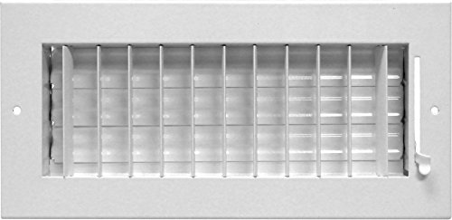 Accord ABSWWHA126 Sidewall/Ceiling Register with 1-Way Adjustable Design, 12-Inch x 6-Inch(Duct Opening Measurements), White