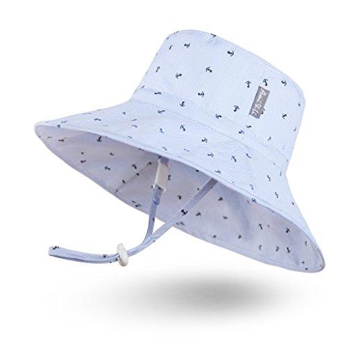 Ami & Li tots Jungen Sonnenhut Eimer Einstellbar für Baby Mädchen Jungen Säugling Kind Kleinkind Hut Sonnenschutz UPF 50 Unisex
