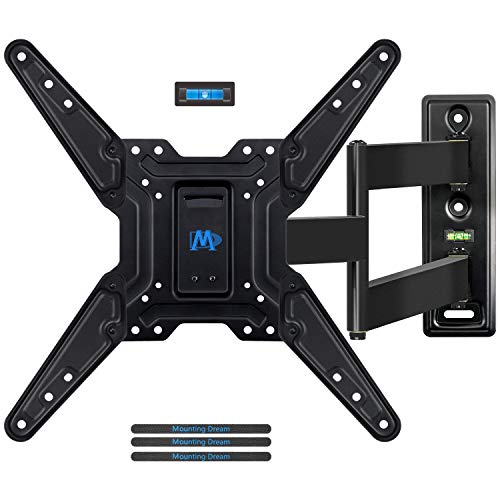 Mounting Dream TV Mount for Most 26-55 Inches LED, LCD, OLED TV with Full Motion Swivel Articulating Arm, TV Wall Mount TV Bracket with MAX VESA 400x400mm and 78 lbs Loading, MD2393-MX
