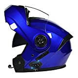 Bluetooth Flip Up Front Motorbike Motocicleta Casco con Visa