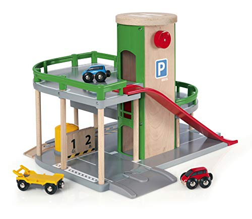 BRIO World - 33204 Parking Garage | Railway Accessory with Toy Cars for Kids Age 3 and Up