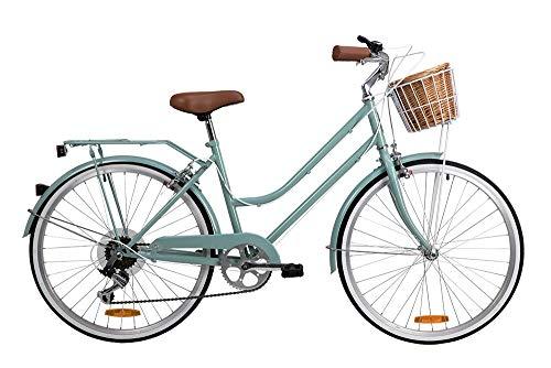 "Reid Petite Vintage Bike 24"" Designed for Petite Riders Shimano 7-Speed Bikes Extra Small Sage"