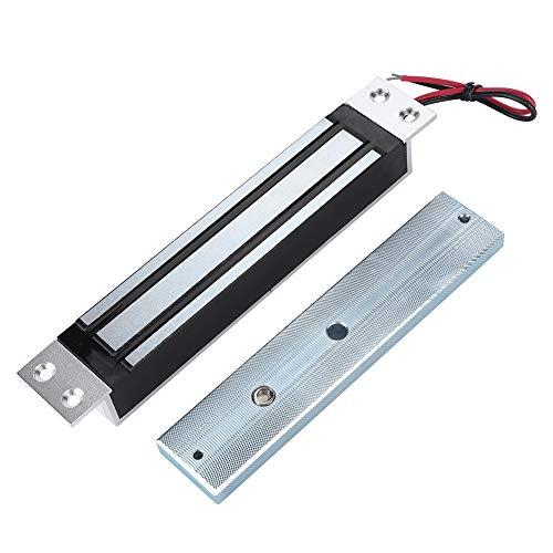 Tangxi Cerradura Magnética, CC/12V 280kg/600Lbs Cerradura Magnética Eléctrica, fFuerza de Retención Bloqueo de Electroimán Modo NC Seguro