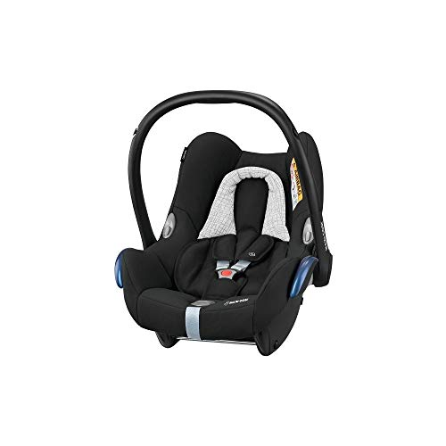 Maxi-Cosi CabrioFix Babyschale, Baby-Autositze Gruppe 0+ (0-13 kg), nutzbar bis ca. 12 Monate, passend für FamilyFix-Isofix Basisstation, Black Grid (schwarz)