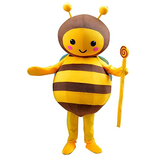 Contactsly-home Weihnachtsschmuck Cartoon Kostüm Biene Puppe Kostüm Puppe Aktivist Wear Performance Doll Requisiten für Innen und Außen (Größe : M)