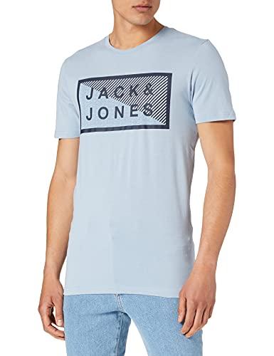 Jack & Jones Jcoshawn Tee SS Crew Neck Noos T-Shirt, Bleu poussière/Coupe : Slim, XL Homme