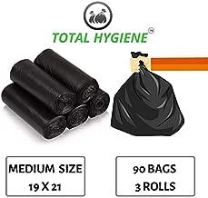 TOTAL HYGIENE Garbage Bag (Medium) Size 19 Inch x 21 Inch (90 Bags) (3 Rolls)