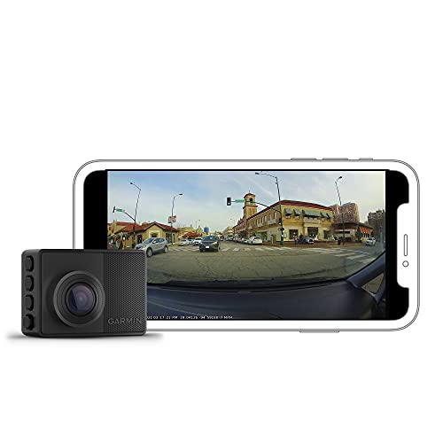 Garmin Dash Cam 67W, 1440p and Extra-Wide 180-degree FOV, Monitor Your Vehicle While Away w/ New Connected Features, Voice Control, Compact and Discreet, Includes Memory Card