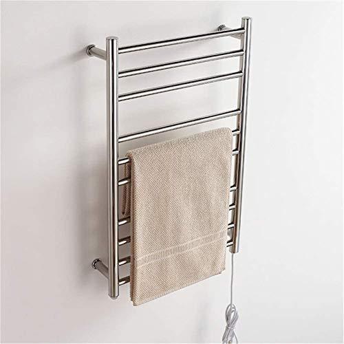 Toallero Eléctrico Calentador de toallas, calentador de toalla eléctrica, Montado en la pared para baño Calentado Rack de secado 8 Barra cuadrada Espejo Polaco Toalla Secadora Casas Accesorios de baño