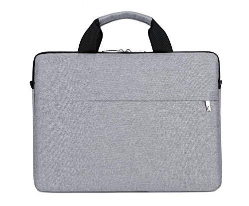 Portable Computer Case Laptop Bag 13/14/15.6 Inch For Macbook Office Notebook Pouch Lightweight Briefcase Men Women Handbag (Color : Gray, Size : 14-inch)