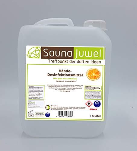 Desinfektionsmittel für die Hände mit naturreinem ätherischem Orangenöl (viruzid, bakterizid, fungizid) nach Vorgabe der WHO - 5 Liter