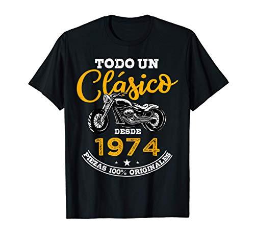 Motero Todo Un Clásico Nacido En 1974 47 años Cumpleaños Camiseta