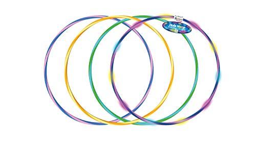 alldoro 60082 Hoop Fun Reifen Ø 72 cm, Hoopreifen mit 11 LEDs, Sportreifen für Sport, Fitness und Gymnastik, Kinderreifen mit Licht, für Kinder ab 4 Jahren & Erwachsene, 3 Farben Sortiert