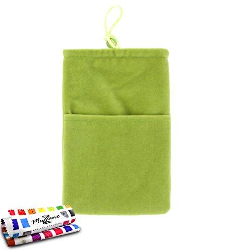 Tasche LG Optimus F5[Cocoon] [grün] von MUZZANO + Eingabestift und Reinigungstuch Muzzano® angeboten–Der Schutz stoßfest ultimative, elegante und nachhaltige für Ihr LG Optimus F5