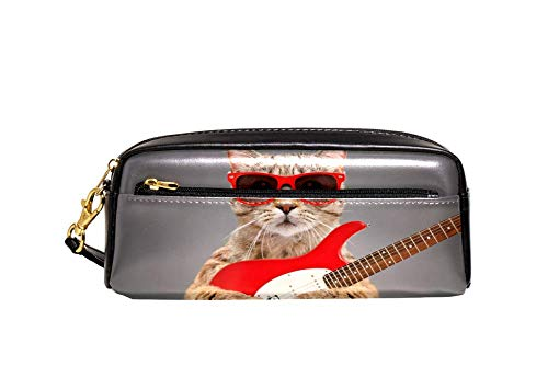 Gato Escocesa Recta en Gafas de Sol con Guitarra Eléctrica Pintura Lápiz...