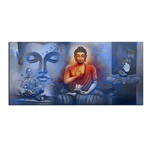 TeriliziGroßformat Druckmalerei Wandmalerei Buddha Poster Wandkunst Bild Für Wohnzimmer Paintng-50X100Cm Ungerahmt