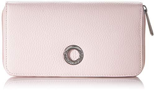 Mandarina Duck Damen Mellow Leather Portafoglio Geldbeutel, Pink (Rose Metal), 2.09x10x19 Centimeters (W x H x L)