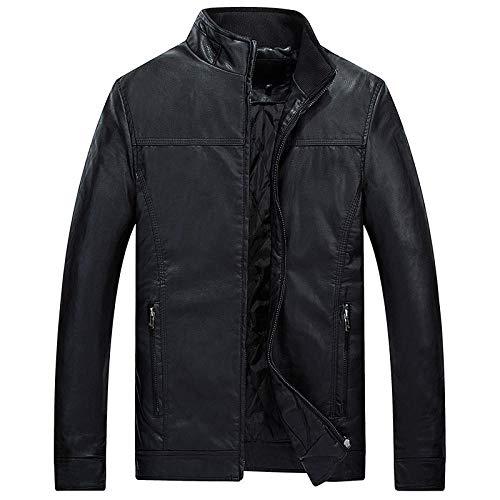 YJWSPD Hombres Delgado Informal Chaqueta Caliente Invierno Gruesa Abrigo Abrigo con Chaqueta Abrigo Thickened-Black_XL