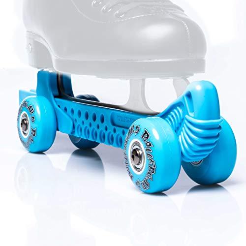 Rollergard Protector de cuchillas con ruedas para patinaje artístico, color azul
