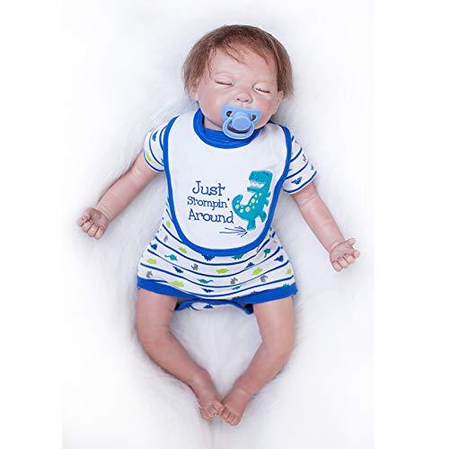 Nicery Bebe Reborn Silicona Muñecas Vinilo de Suave para Niños y Niñas Cumpleaños 18-20 Inch 48-50 cm Juguetes Reborn Baby Doll gx50-60oes