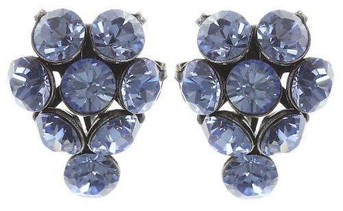 KONPLOTT Magic Fireball Ohrstecker für Damen | Exklusive Designer-Ohrringe mit 16 Swarovski Steinen | Glamouröser Ohrschmuck passend zu jedem Anlass | Handgefertigter Damen-Schmuck | Hellblau