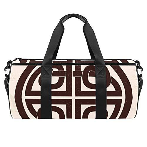 Anna Cowper Celtic National Duffel Shoulder Carry Bag Canvas Travel Bag for Gym Sports Dance Travel Weekender