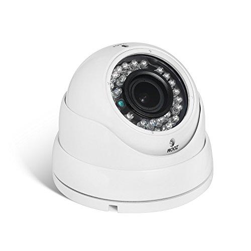 POE HD 3MP Zoom IP Telecamera - Revotech - H.265 1080P 2MP 2.8-12mm Zoom Impermeabile All'aperto 36 LED Telecamera di Sorveglianza con Visione Notturna ONVIF P2P CCTV Cam con IR-Cut (I9312-P Bianco)