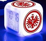 Reloj despertador digital LED fútbol/fútbol reloj despertador regalo de 7 colores