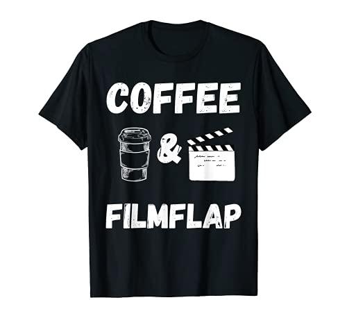 Caf y pelcula Flap Director de cine Productor de cine Video Maker Camiseta