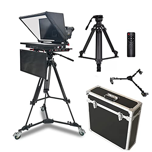 OJKYK 21' Teleprompter Kit Artefacto Video Tiene Un Host Integrado Incorporado Y Pantalla LCD con Función De Espejo para Instituciones Corporativas Escuelas