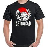 Skinhead - Camiseta de manga corta para hombre negro M