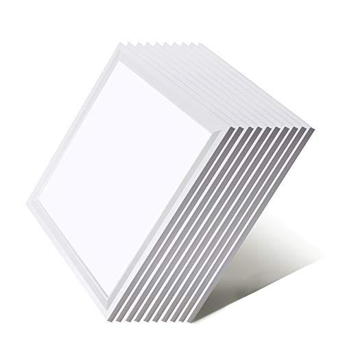 [10er Pack zum Sparpreis] OUBO LED Panel 62x62 Deckenleuchte Neutralweiß 4000K, 36W, 4550lm, Bürolampe für Odenwalddecke, Rasterleuchten, Einlegeleuchte, Weißrahmen