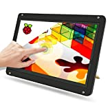 New! 7inch IPS 1024X600 Touch Display Monitor with Case, USB Powered HDMI Portable Screen Capacitive Pi Touchscreen, Brightness Adjustable, for Raspberry Pi 3 4 4b 3b+, Windows 7/8/10, Drive-Free