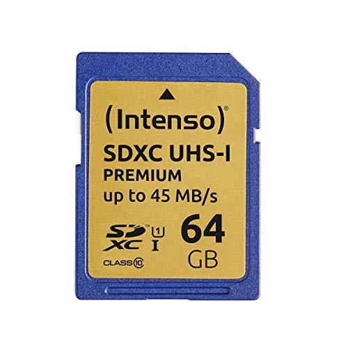 Intenso SDXC UHS-I 64GB Class 10 Speicherkarte blau