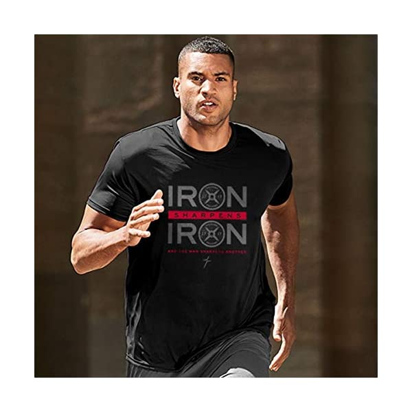 Kerusso Men's Iron Sharpens Iron T-Shirt – Black –
