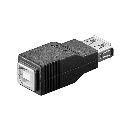 Wentronic Goobay 50290 USB 2.0 Hi-Speed Adapter, Schwarz